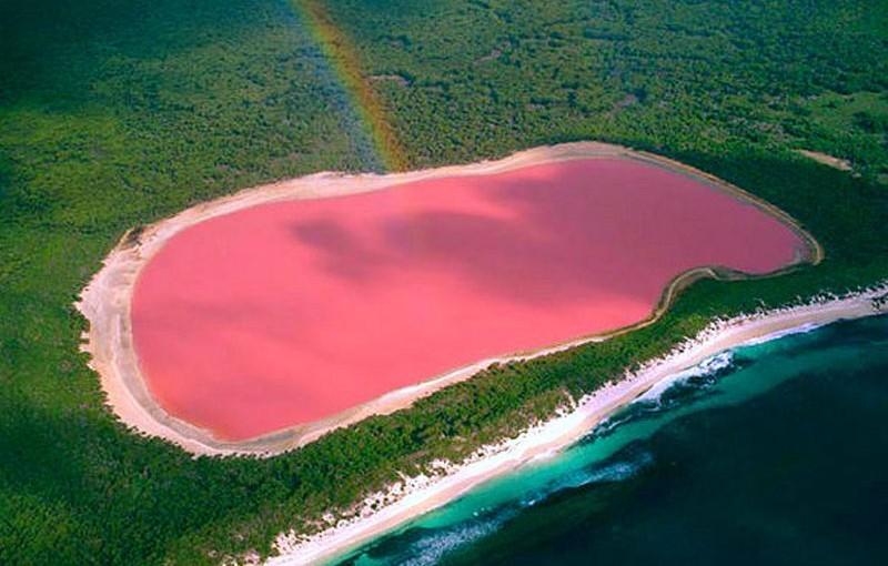 Lago Hillier, en Australia