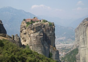 Monasterios de Meteora, en Grecia