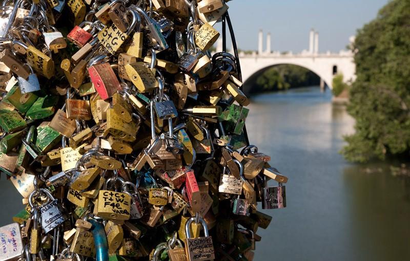 Candados del Puente Milvio, en Roma