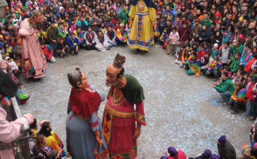 Los llamados Gegants Bojos del Carnaval de Solsona
