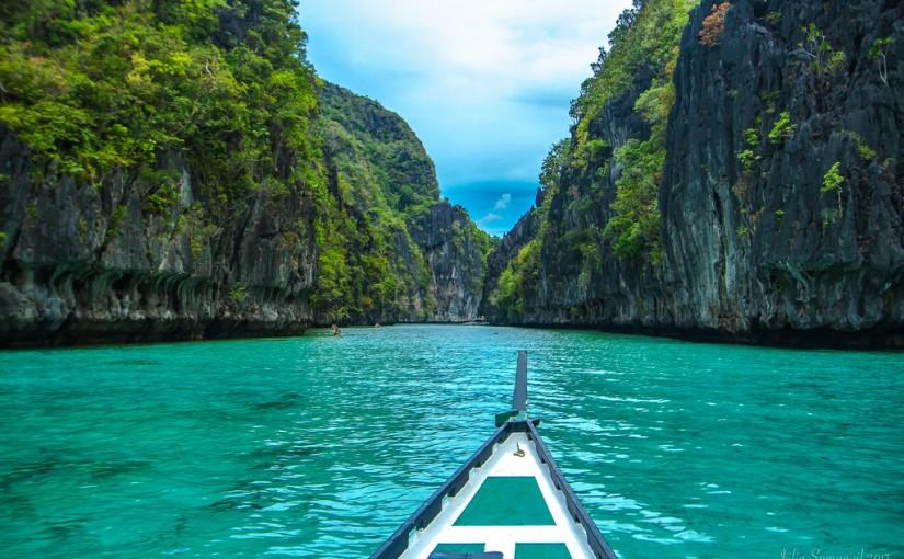 El Gran Lago de El Nido, perteneciente a la isla Palawan, Filipinas