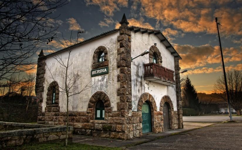 Antigua estación de Berdía, en La Coruña